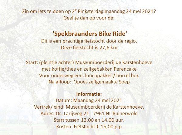 Fietstocht 2e Pinksterdag Ruinerwold